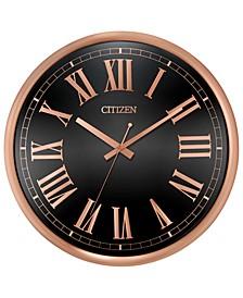 Gallery Black & Rose Gold-Tone Wall Clock
