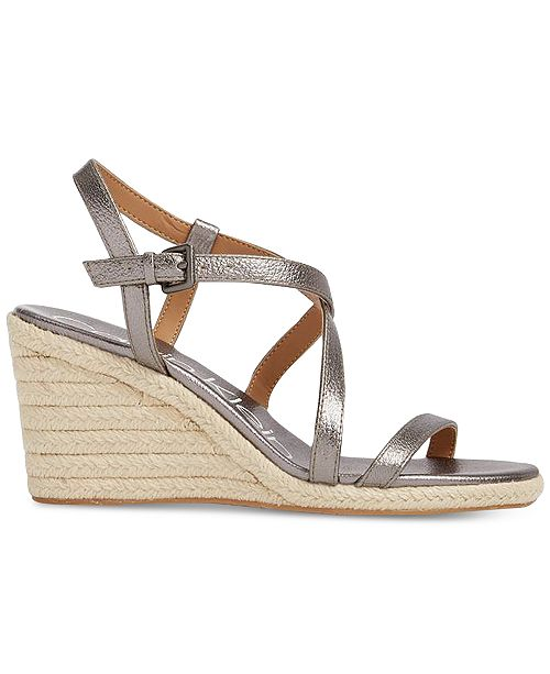 0c600240d99 Calvin Klein Women s Bellemine Wedge Sandals   Reviews - Shoes - Macy s