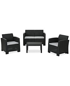 San Juan 4-Pc. Outdoor Chat Set, Quick Ship
