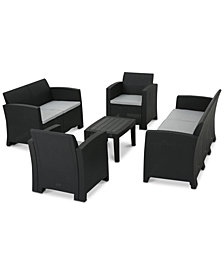 Peninsula 5-Pc. Outdoor Chat Set, Quick Ship