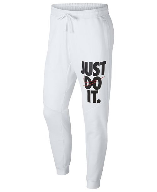 Nike Men s Sportswear Just Do It Fleece Joggers   Reviews - All ... de2bc1c2b