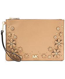 MICHAEL Michael Kors Medium Floral Zip Clutch