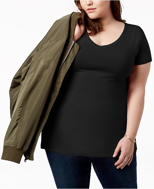 Trendy Planet Plus Fitted T Size Black Gold Shirt V Neck OO1p5q
