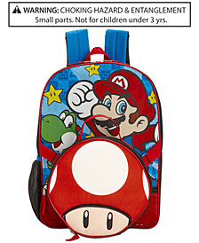 Nintendo's Mario Bros. Backpack & Lunch Bag, Little & Big Boys