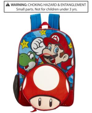 Nintendos Mario Bros Backpack  Lunch Bag Little  Big Boys