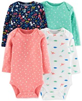 cd7367099bc0 Carter s Baby Girls 4-Pack Printed Cotton Bodysuits