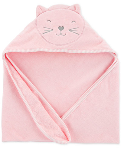 Carter's Baby Girls Hooded Cat Cotton Towel