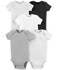 Carter's Baby Boys or Girls 5-Pack Cotton Bodysuits