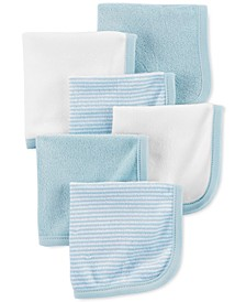 Baby Boys 6-Pk. Stripes & Solids Washcloths