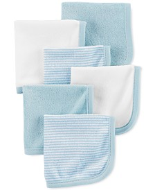 Carter's Baby Boys 6-Pk. Stripes & Solids Washcloths