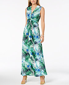 Jessica Howard Ruched Maxi Dress