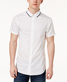 A|X Armani Exchange Men's Tipped-Collar Slim Fit Shirt