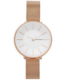Women's Karolina Rose Gold-Tone Stainless Steel Mesh Watch 38mm