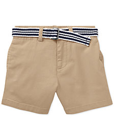Ralph Lauren Belted Stretch Chino Shorts, Baby Boys