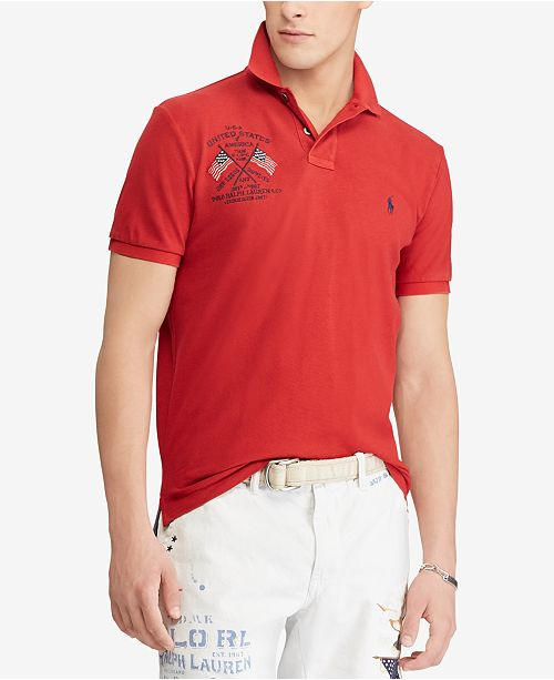 8adef00dfe89 Polo Ralph Lauren Men s Custom Slim Fit Mesh Polo - Casual Button ...