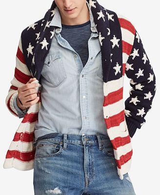 Polo Ralph Lauren Mens Flag Cardigan Sweaters Men Macys
