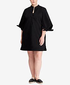 Lauren Ralph Lauren Plus Size Tie-Sleeve Dress