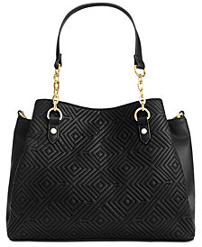 I.N.C. Quiin Triple-Compartment Satchel, Created for Macy's