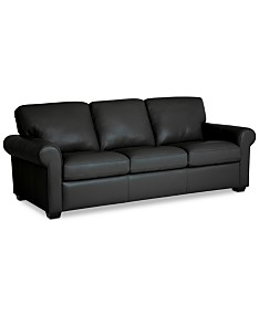Black Leather Sofas & Couches - Macy\'s