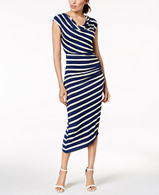 Vince Camuto Asymmetrical Midi Dress