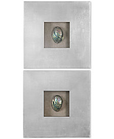 Uttermost 2-Pc. Abalone Shells Silver-Finish-Framed Wall Art Set