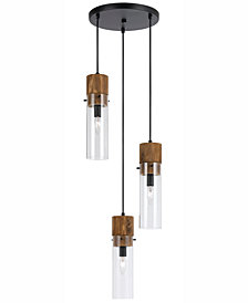 Cal Lighting 3-Light Spheroid Pendant
