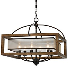 6-Light Square Chandelier