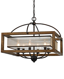 Cal Lighting 6-Light Square Chandelier