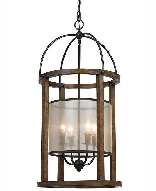 Cal Lighting 60W 4-Light Lantern Chandelier