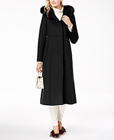 Forecaster Fox Fur-Collar Maxi Coat