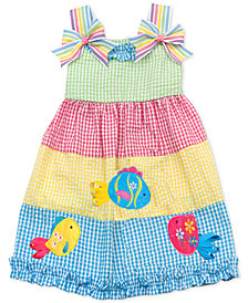 Rare Editions Toddler Girls Colorblocked Gingham Dress, Created for Macy's