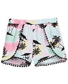 Epic Threads Little Girls Printed Pom Pom-Trim Shorts, Created for Macy's
