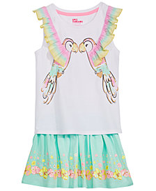 Epic Threads Little Girls T-Shirt & Floral-Print Skirt, Created for Macy's