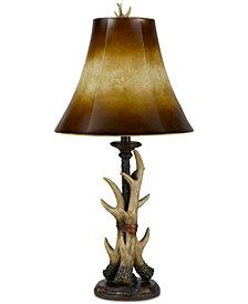 Cal Lighting Resin Buckhorn Table Lamp
