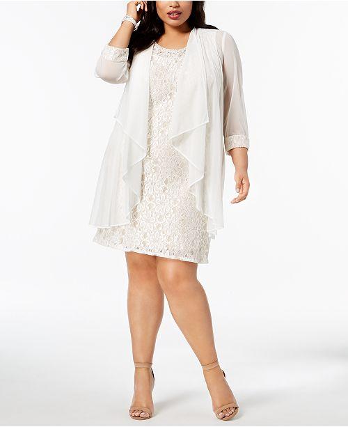 R M Richards Plus Size Lace Dress Jacket Dresses Women Macys