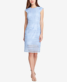 Tahari ASL Embroidered Lace Dress