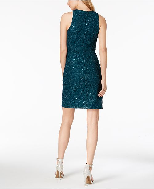 b66cfa39805 Nightway Sequined Lace Cocktail Dress   Reviews - Dresses - Women ...