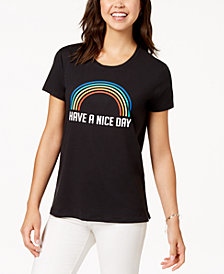 Love Tribe Juniors' Have A Nice Day Graphic-Print T-Shirt
