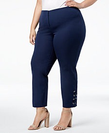 Alfani Plus Size Hollywood-Waist Pants, Created for Macy's