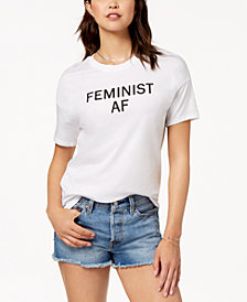 Carbon Copy Cotton Feminist Graphic T-Shirt
