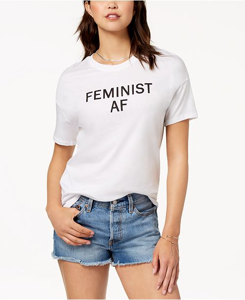 Copy Carbon Shirt T Cotton White Feminist Graphic zxqdPF