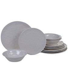 Cream Melamine 12-Pc. Dinnerware Set, Service for 4
