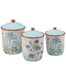 Certified International 6-Pc. Herb Blossom Lidded Canister Set