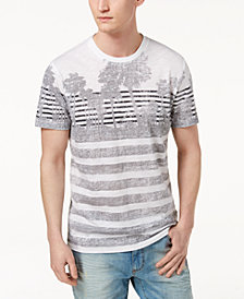 American Rag Men's Palm Striped T-Shirt, Created for Macy's