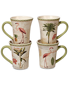 Certified International Floridian Mugs, Set of 4