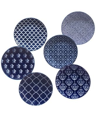 Blue Indigold Set of 6 Cananpé Plates
