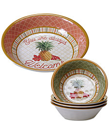 Certified International Floridian 5-Pc. Salad Set