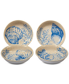 Certified International 4-Pc. Seaside Soup/Pasta Bowls Set