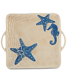 Certified International Seaside Square Handled Platter