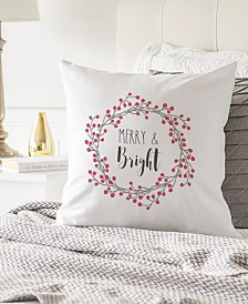"""Cathy's Concepts Merry & Bright 16"""" Square Decorative Pillow"""